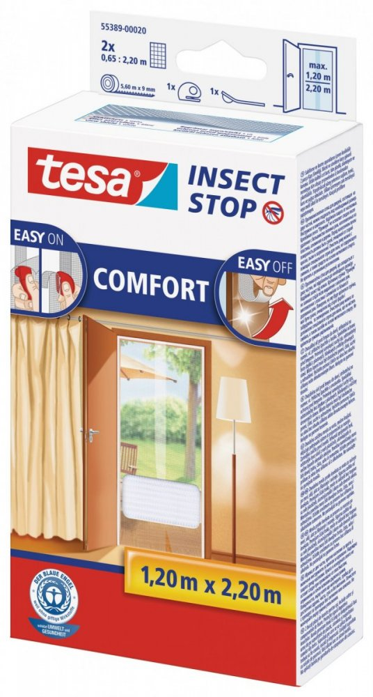 Síť proti hmyzu COMFORT, do dveří, bílá, 2x 0,65m x 2,2m