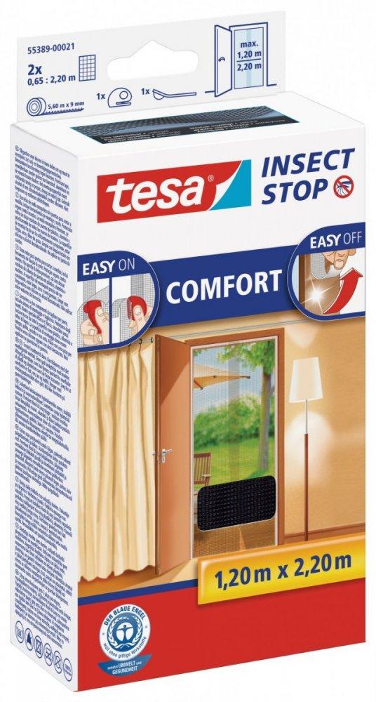 Síť proti hmyzu COMFORT, do dveří, antracitová, 2x 0,65m x 2,2m
