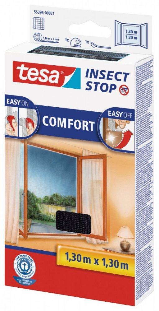 Síť proti hmyzu COMFORT, na okno, antracitová, 1,3m x 1,3m