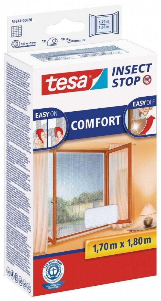 Síť proti hmyzu COMFORT, na okno, bílá, 1,7m x 1,8m