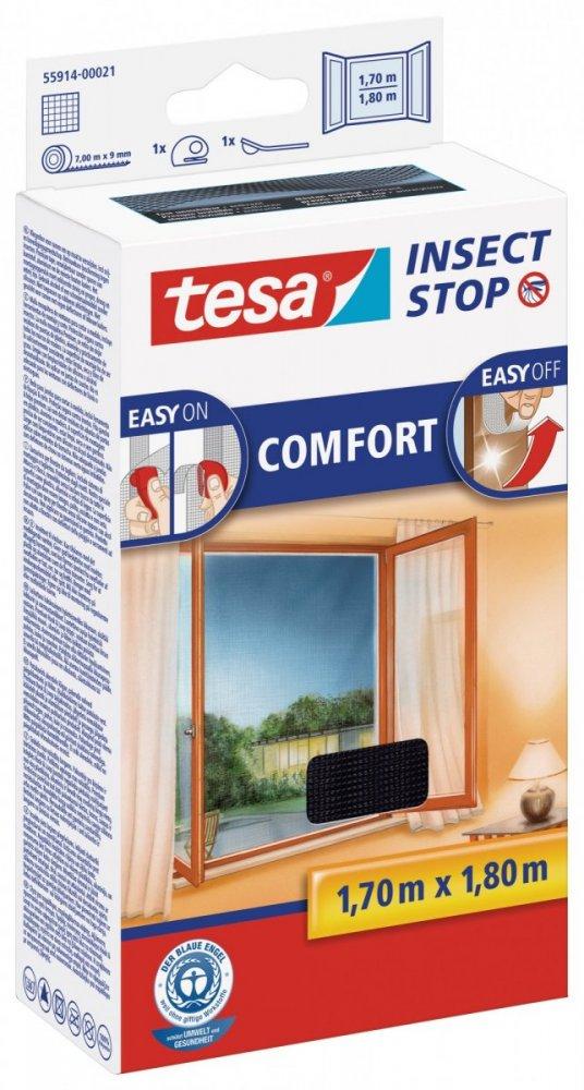 Síť proti hmyzu COMFORT, na okno, antracitová, 1,7m x 1,8m