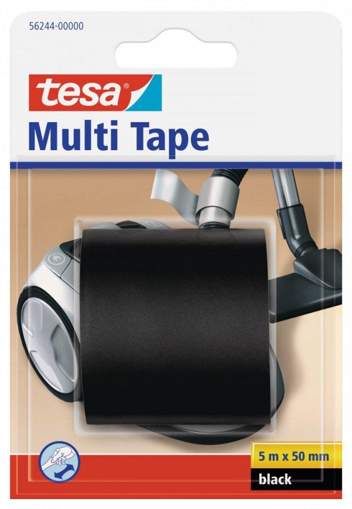 Multitape, univerzální opravná PVC páska, černá, 5m x 50mm