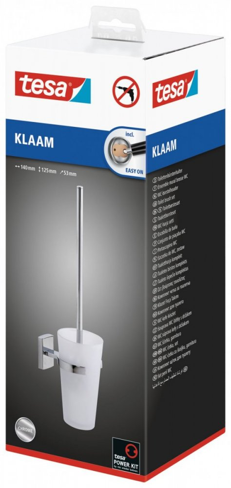 Klaam Souprava WC štětky s držákem 125mm x 53mm x 140mm