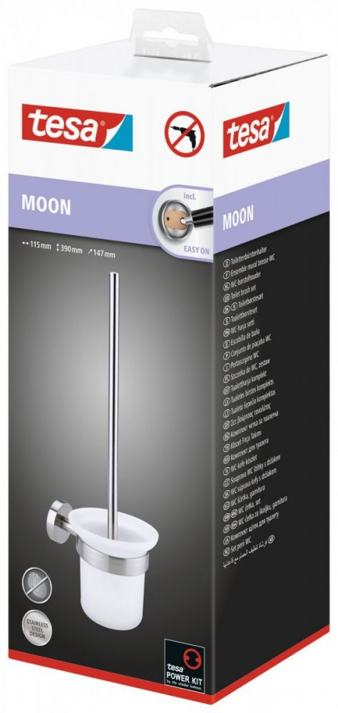 Moon Souprava WC štětky s držákem 390mm x 147mm x 115mm