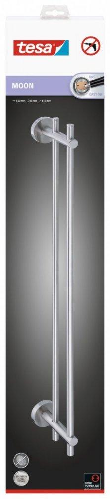 Moon Tyč na osušku dvojitá 49mm x 115mm x 640mm