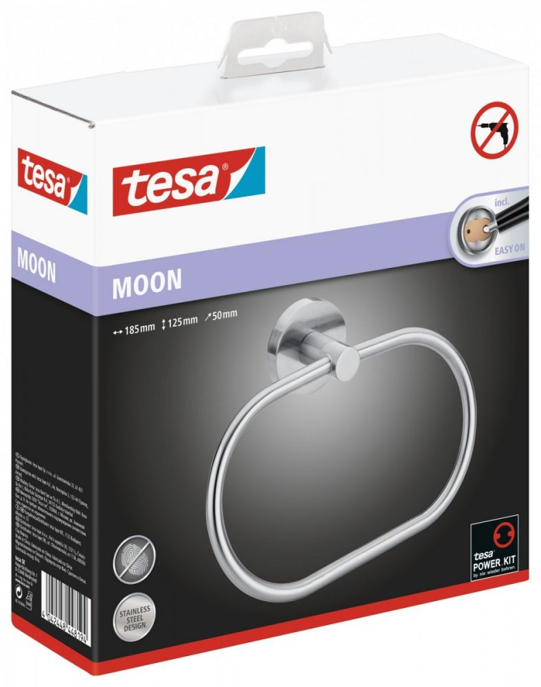 Moon Kruhový držák na ručník 125mm x 50mm x 185mm