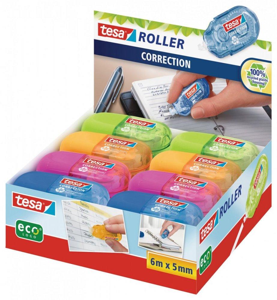 Roller Mini, Opravný korekční strojek, mix barev v kartonu, jednorázový, 6m x 5mm