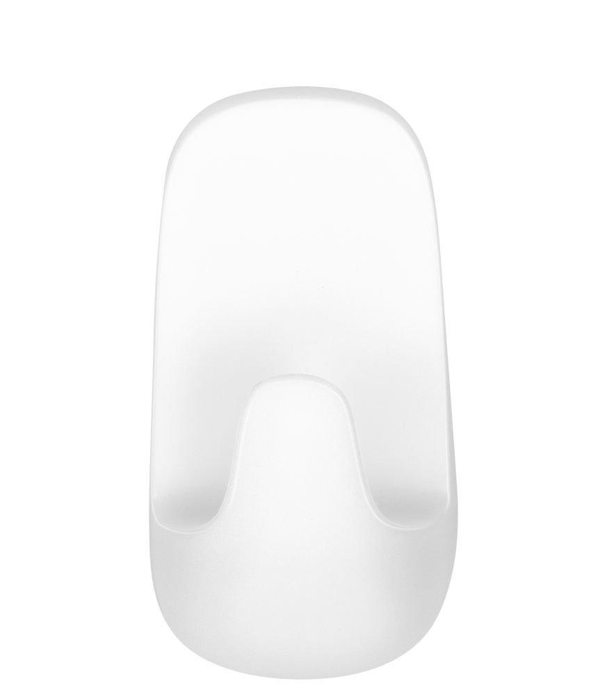 Voděodolné velké háčky – plast, bílé