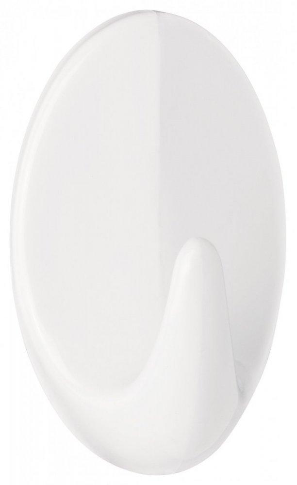Permanent Háčky, oválné háčky větší L, bílý plast, pro lehké předměty, v balení 2ks