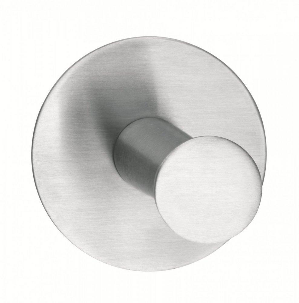 Powerbutton Háčky, CLASSIC, matná nerez ocel, kruhový, nosnost 6kg