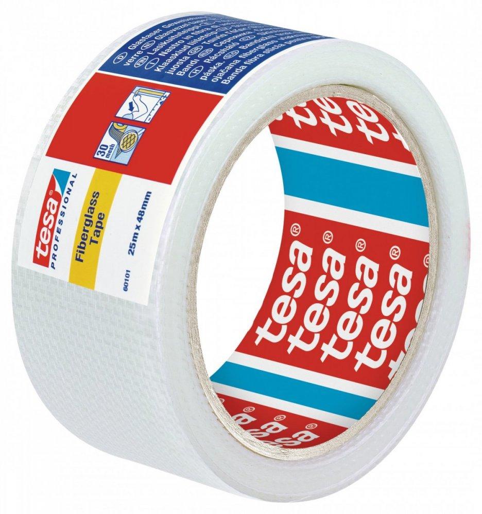 Opravná sklolaminátová páska na sádrokarton, na praskliny do hloubky 3mm, bílá, 90m x 48mm