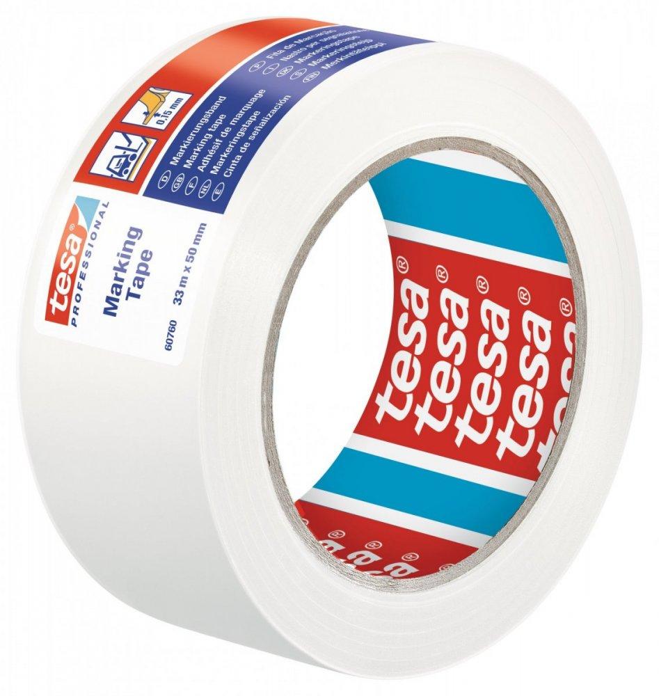 Vyznačovací páska PVC pro trvalé značení, bílá, 33m x 50mm