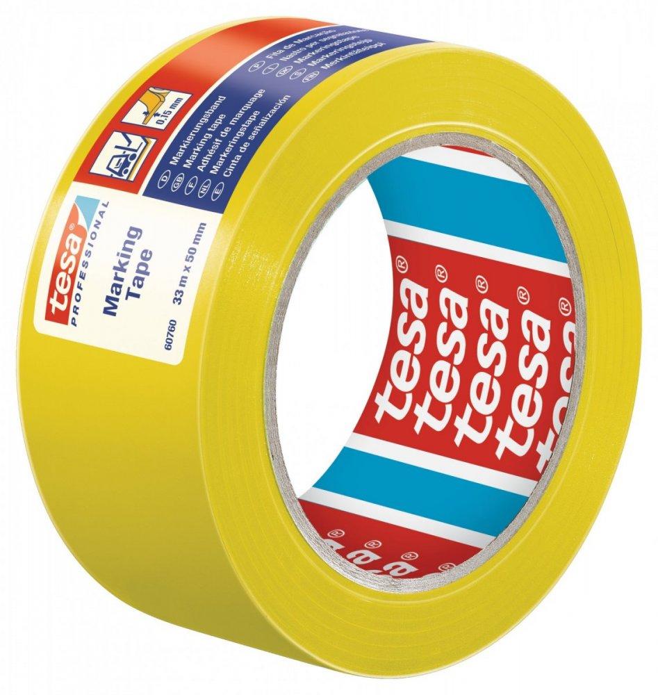 Vyznačovací páska PVC pro trvalé značení, žlutá, 33m x 50mm