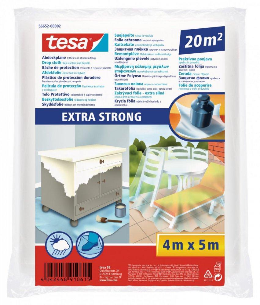 Zakrývací fólie Extra Strong pro ochranu velkých ploch, 4m x 5m