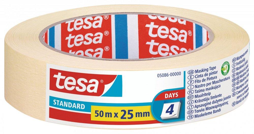 Maskovací páska STANDARD, odstranitelná do 2 dnů, 50m x 25mm