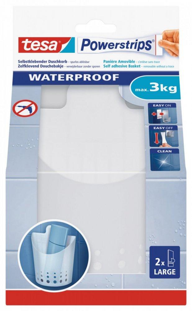 Waterproof Háčky, voděodolný, malý košík, bílý plast, nosnost 3kg, v balení 1ks
