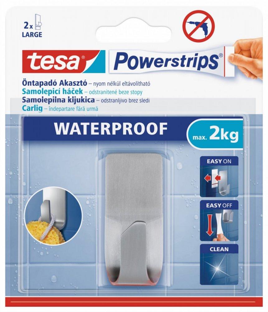 Waterproof Háčky, voděodolné, obdélníkový velký, nerez ocel, nosnost 2kg, v balení 1ks