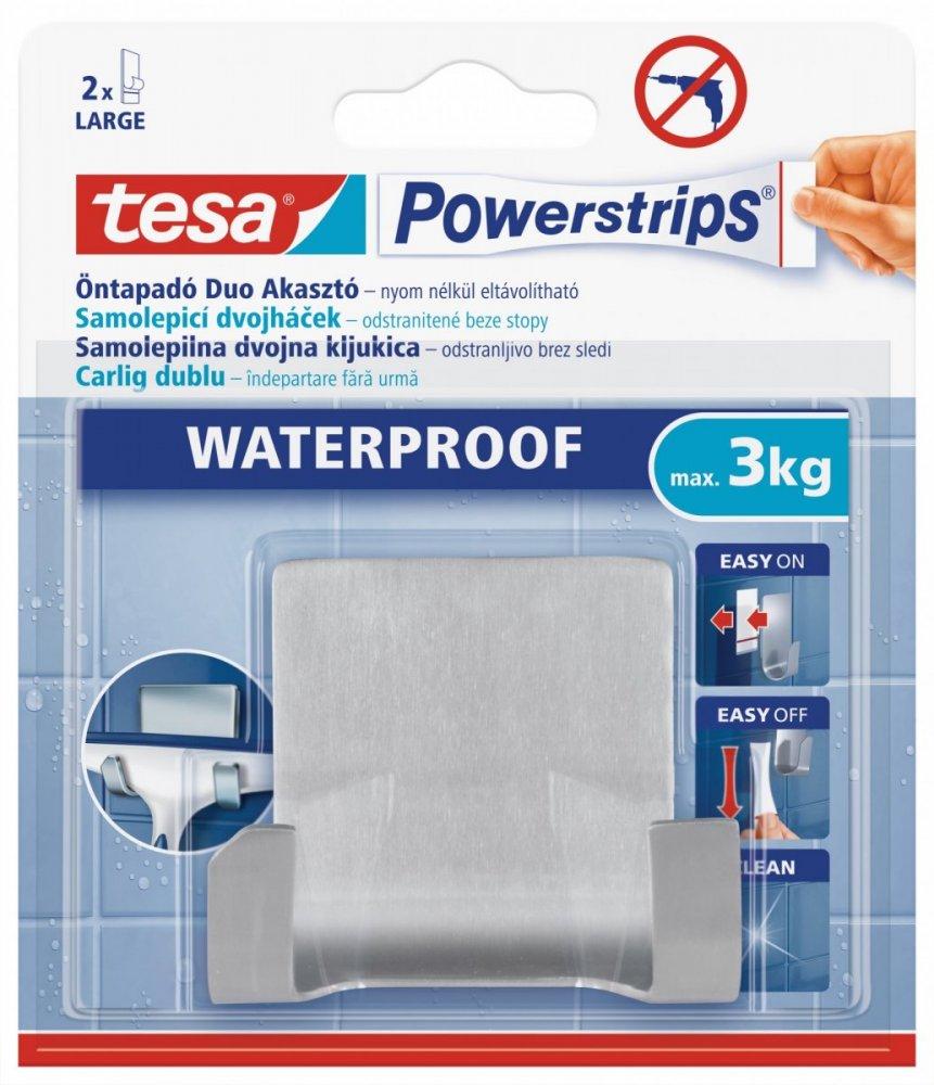 Waterproof Háčky, voděodolný, dvojháček, nerez ocel, nosnost 3kg, v balení 1ks