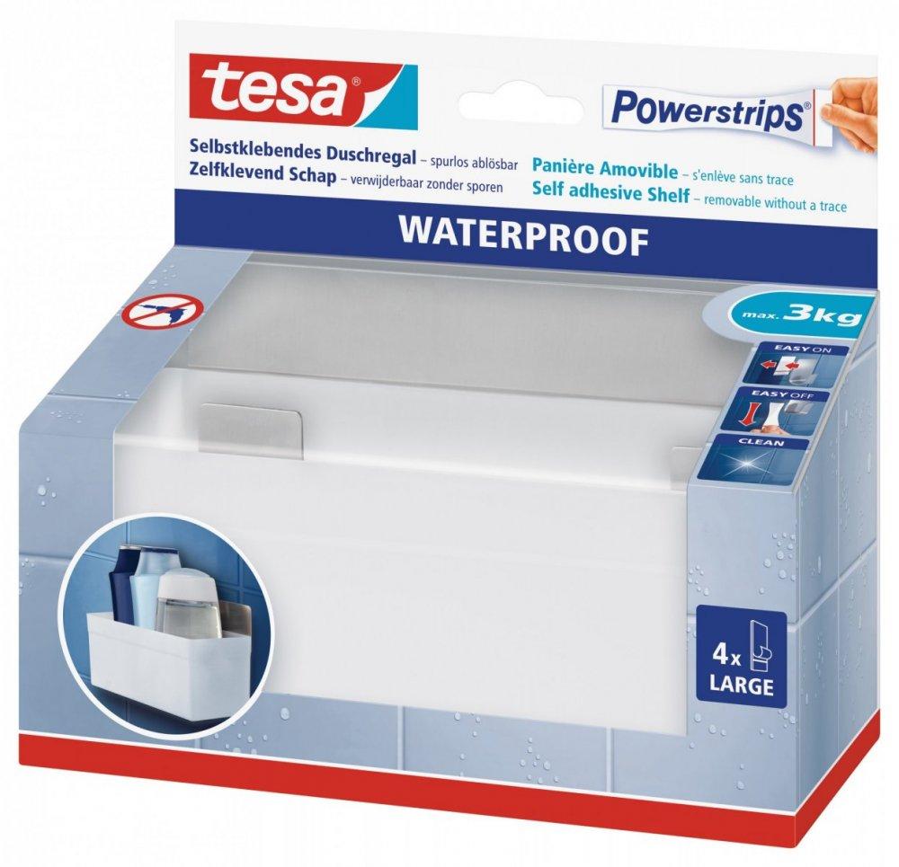 Waterproof Háčky, voděodolný, košík, nerez ocel a plast, nosnost 3kg, v balení 1ks