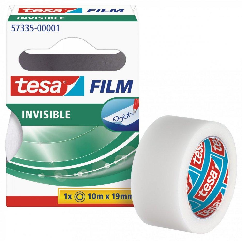 Kancelářská páska INVISIBLE, neviditelná, v krabičce, 10m x 19mm