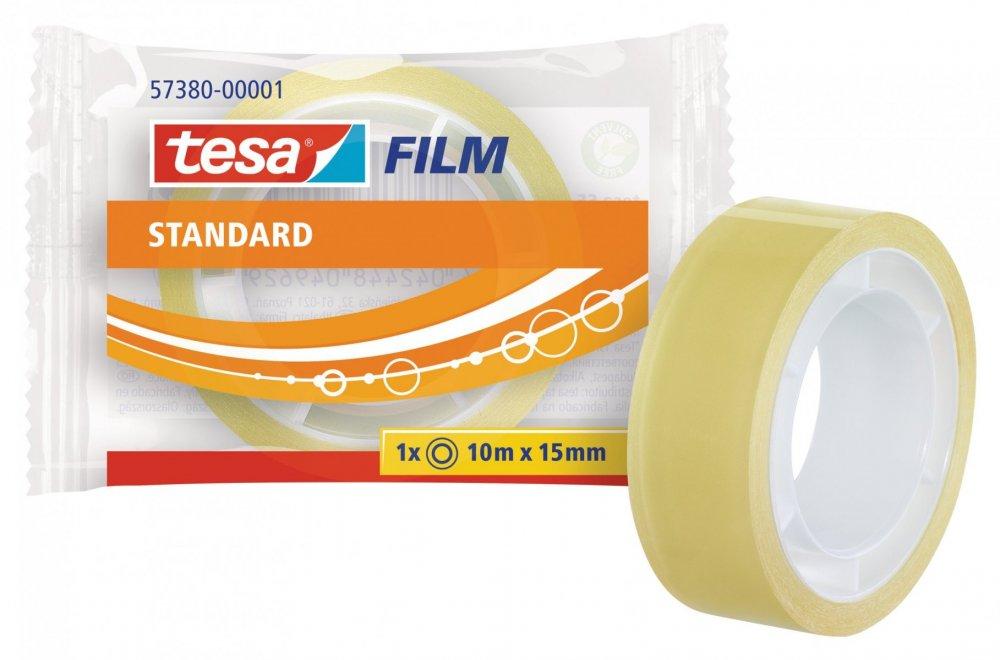 Kancelářská páska STANDARD, v sáčku, průhledná, 10m x 15mm