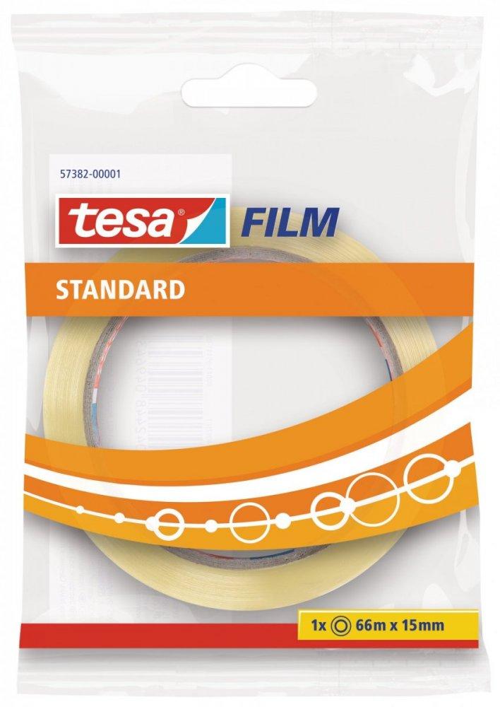 Kancelářská páska STANDARD, v sáčku, průhledná, 66m x 15mm