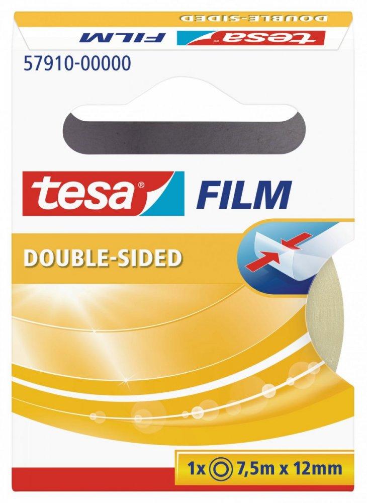 Oboustranně lepicí kancelářská páska, průhledná, v krabičce, 7,5m x 12mm