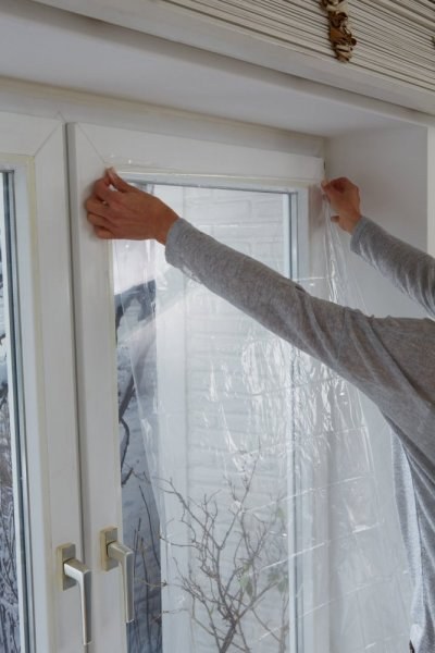 Thermo Cover, transparentní fólie na rám okna, průhledná, 1,7m x 1,5m