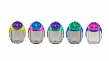 MIGOO, dvojité plastové ořezávátko se zásobníkem, mix 5 barev
