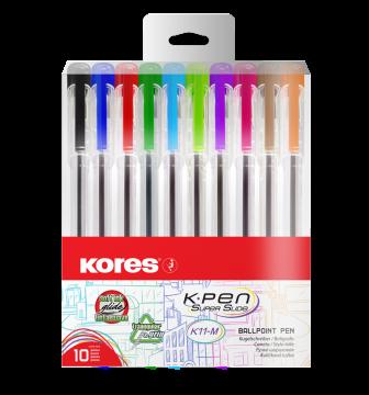 Kuličkové pero K11 pen sada 10 barev