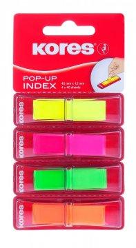 Neonové záložky Pop-up 45x12 mm / 4 barvy / 4 x 40 záložek