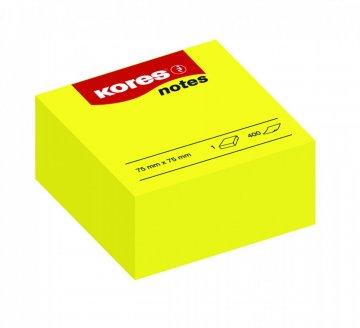 Samolepicí bločky žluté CUBO 75x75 / 400 lístků