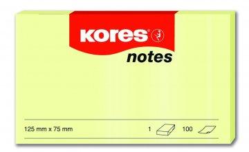 Samolepicí bločky žluté 125x75 / 100 lístků