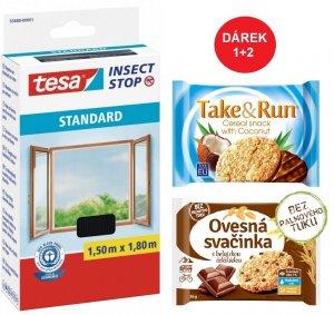 Síť proti hmyzu STANDARD, na okno, antracitová, 1,5m x 1,8m