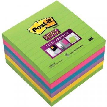 Bloček samolepící Post-it 100x100 6x90l duha