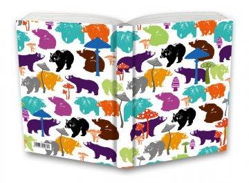 Tečkovaný zápisník, medvědi, 195 x 135 mm
