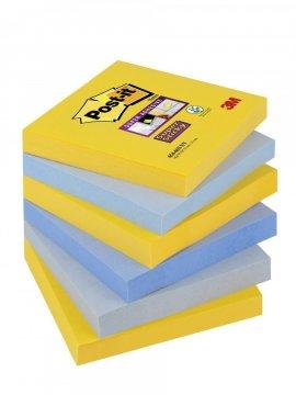 3M Post-it - silně lepicí bločky - 76x76 mm, 6 x 90l., kolekce New York