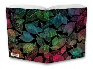 Tečkovaný zápisník, neonové listí, 100 x 140 mm