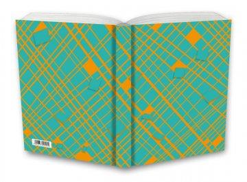 Tečkovaný zápisník, žlutá síť, 195 x 135 mm