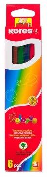 Trojhranné pastelky, 3 mm / 6 barev