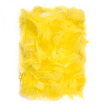 Peří 5-12 cm, 10 g, žlutá
