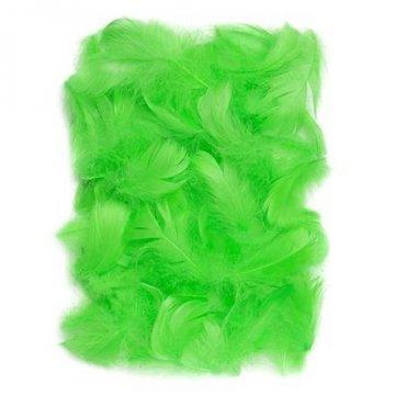 Peří 5-12 cm, 10 g, zelená
