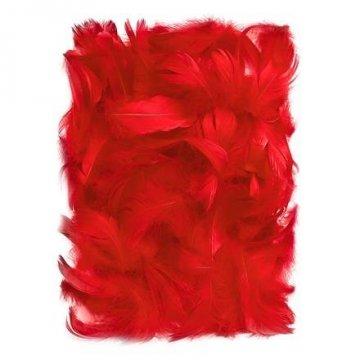 Peří 5-12 cm, 10 g, červená