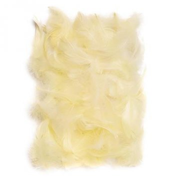 Peří 5-12 cm, 10 g, ecru