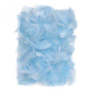 Peří 5-12 cm, 10 g, modrá