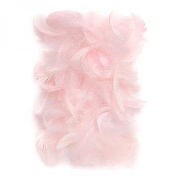 Peří 5-12 cm, 10 g, růžová