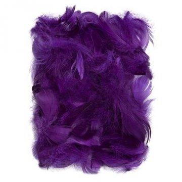 Peří 5-12 cm, 10 g, fialová