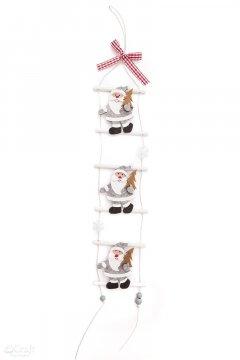 Filcová dekorace, Santa na žebříku