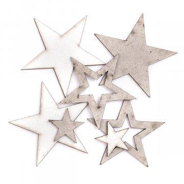 Lepenkové hvězdičky 7 ks