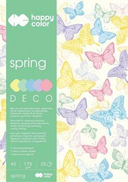 Blok Deco Spring A5, 170g, 20 listů, 5 barev